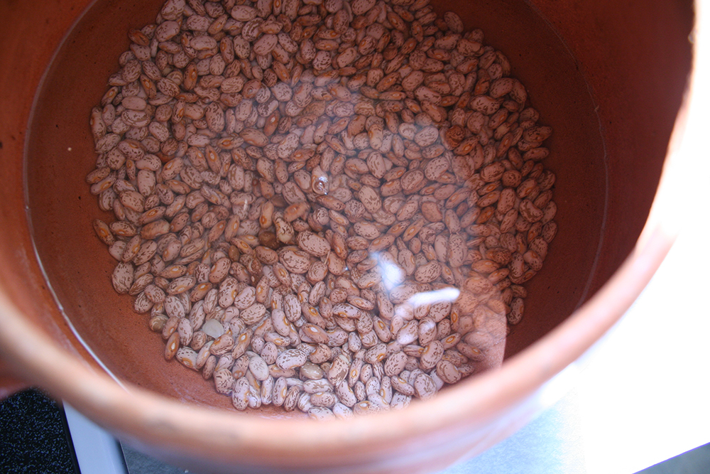Adding Water To Beans