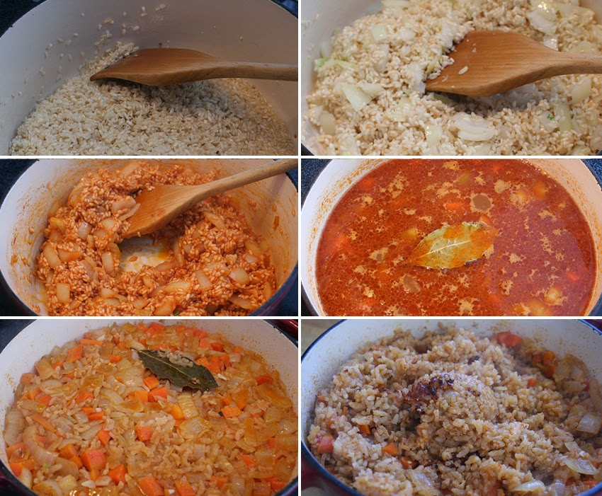 Cooking the rice in stages