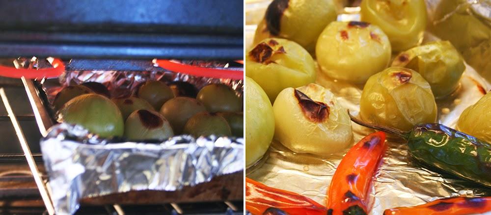 Roasting Tomatillos