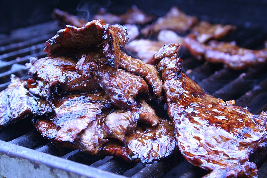 Grilled Carne Asada - Carne and Papas