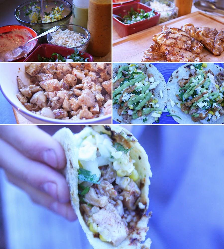 Pollo Asada Tacos Preparation
