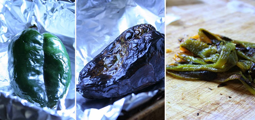 Broiled Poblano Pepper