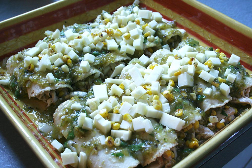 Enchiladas Ready for Oven