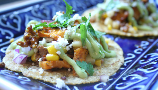 Sweet Potato, Chorizo, and Corn Tacos