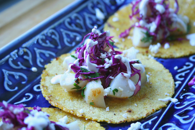 Scallop Tacos