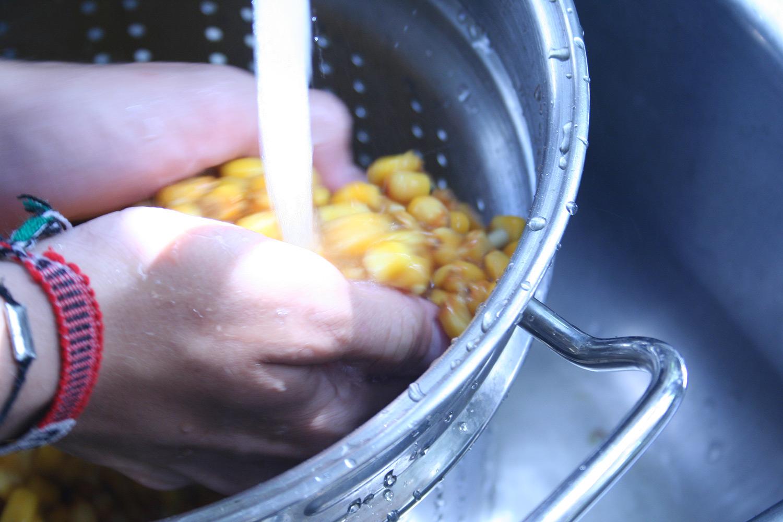 Washing Corn