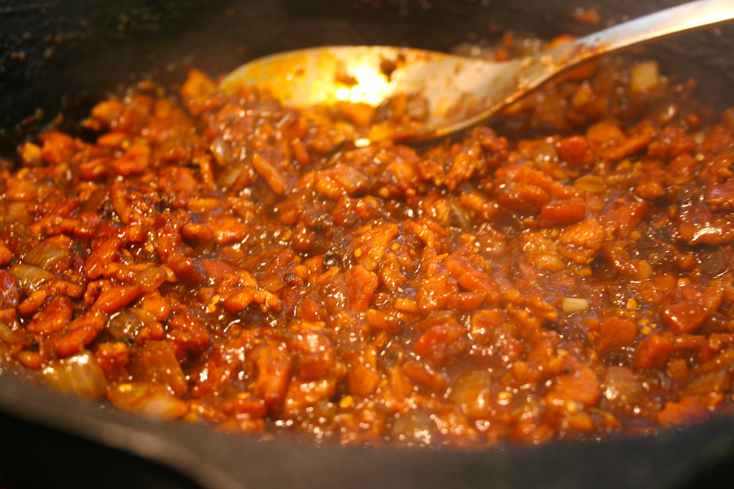 Cooking Chipotle Bacon Jam