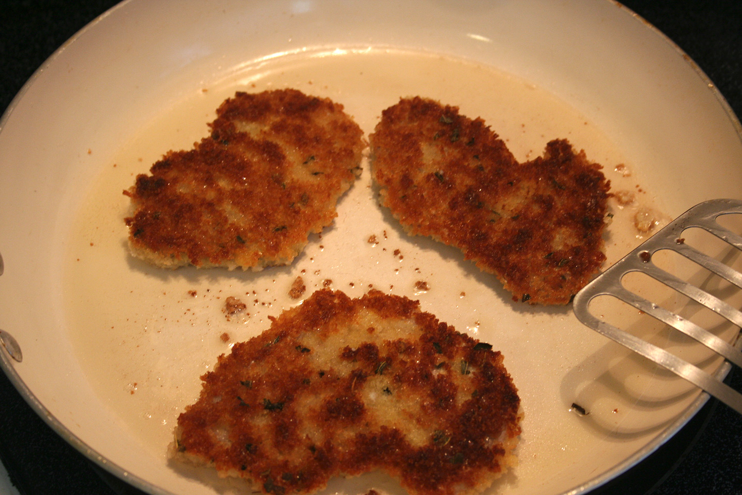 Frying Breaded Cutlets
