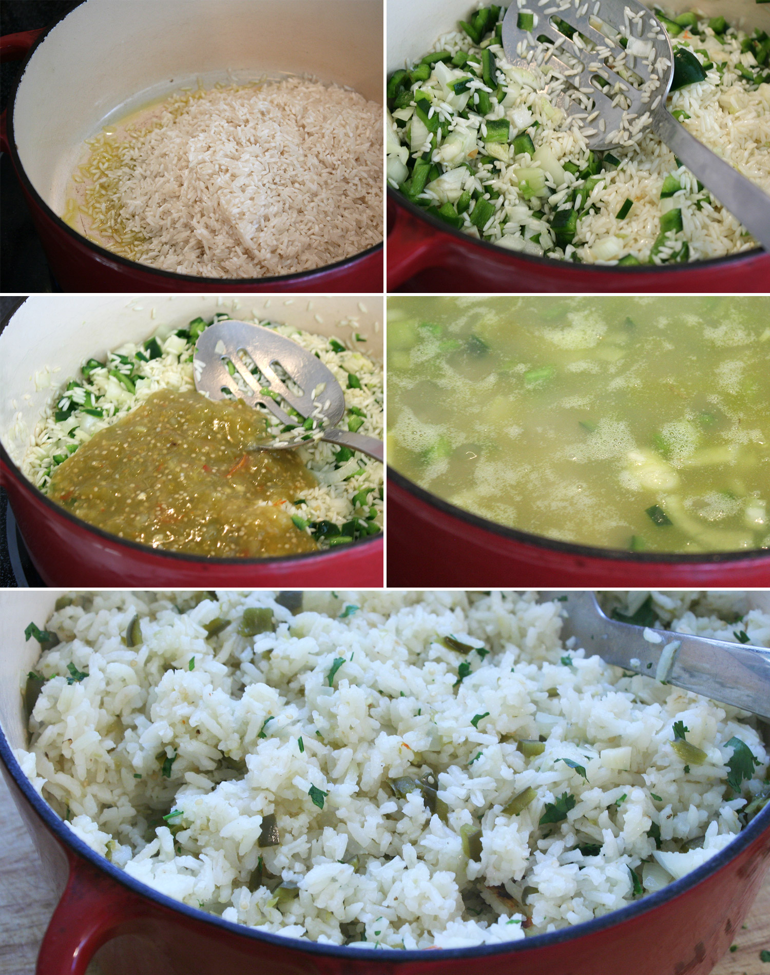 Cooking Poblano Rice