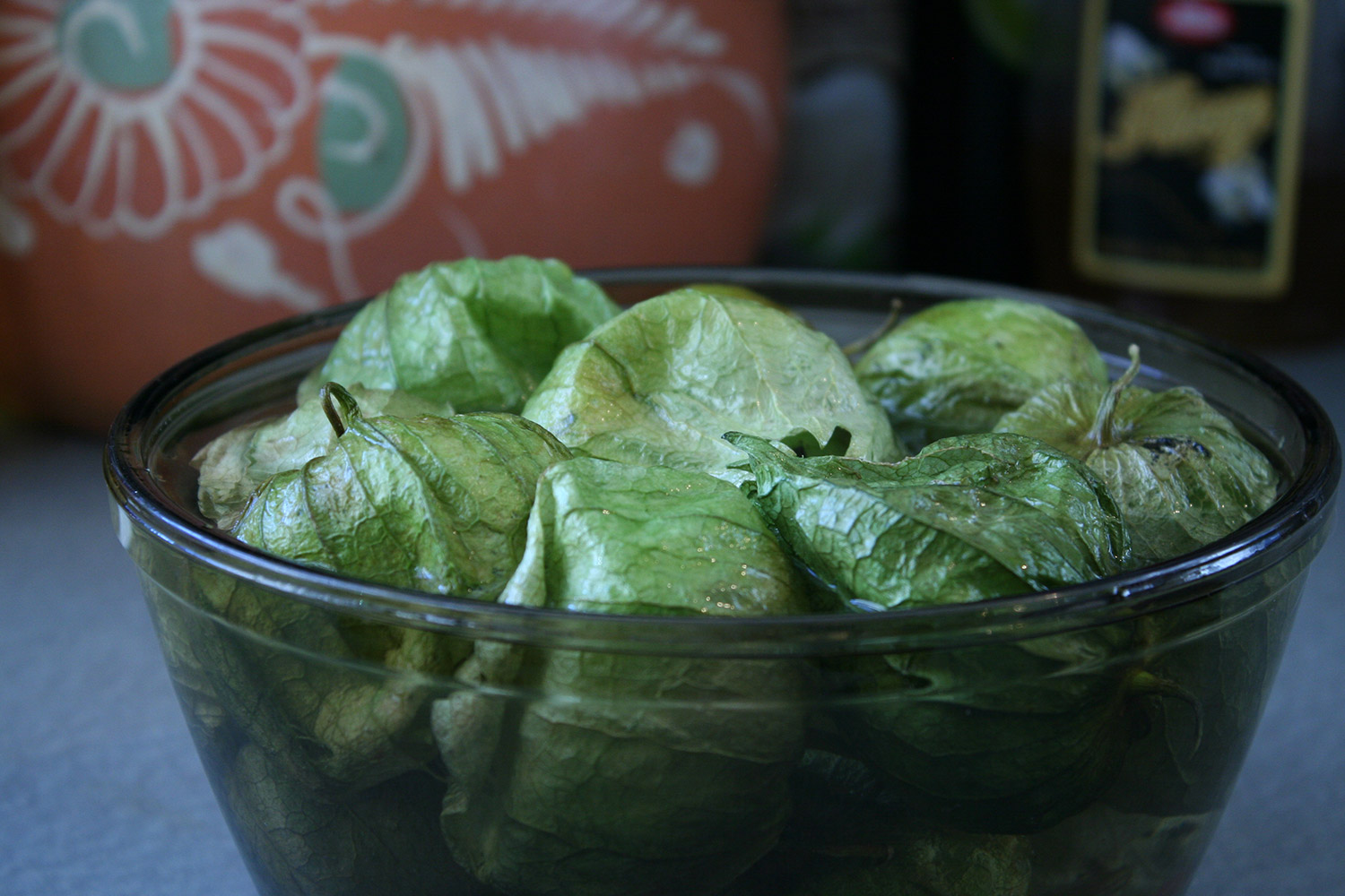 Tomatillos Soaking