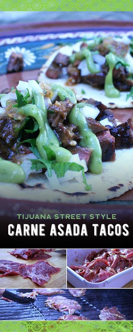 Tijuana Street Style Carne Asada Tacos