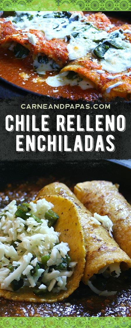 Chile Relleno Enchiladas