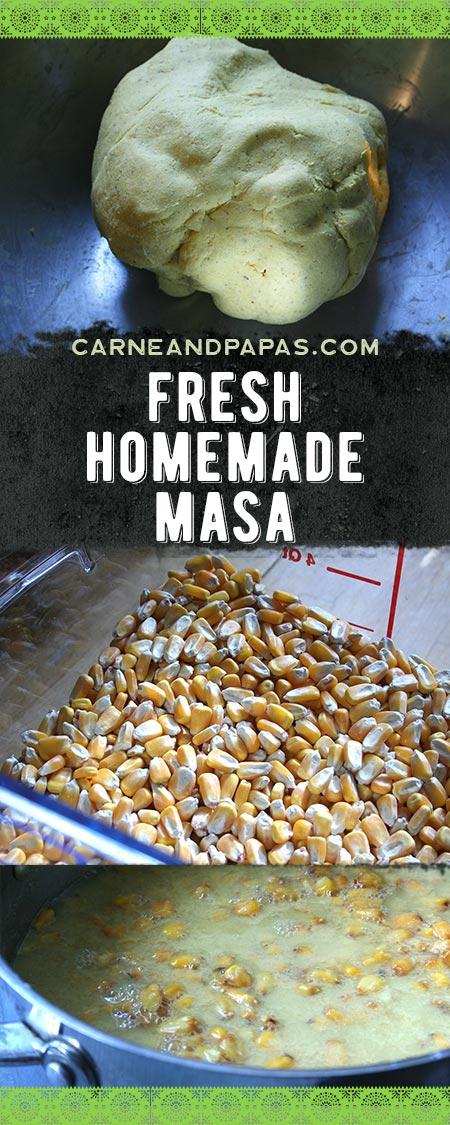 Fresh Homemade Masa